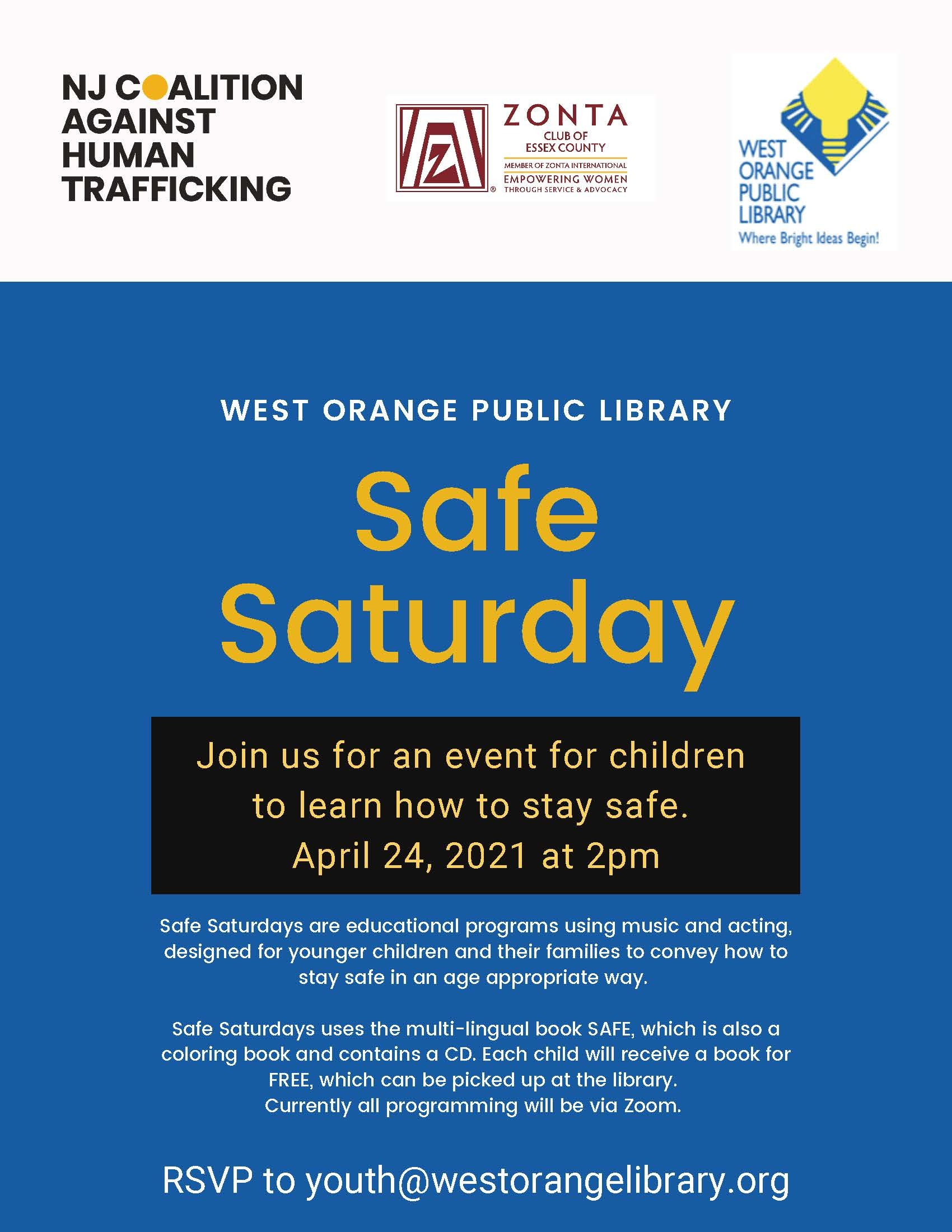 Safe Saturdays WOPL SS Flyer 3
