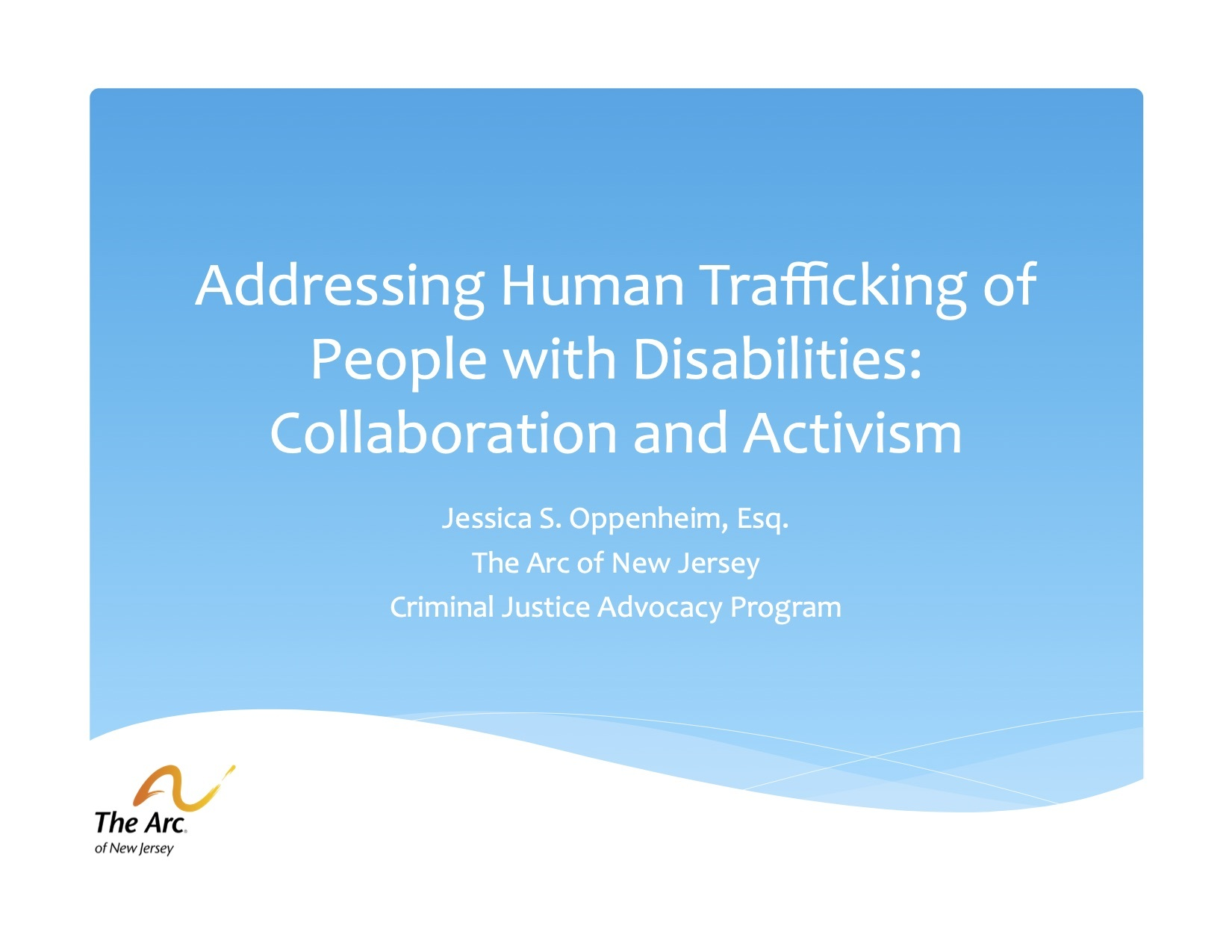 Human trafficking and disabilities report